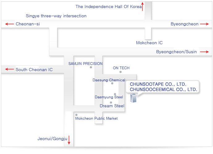 MAP – CHUNSOOTAPE CO., LTD.